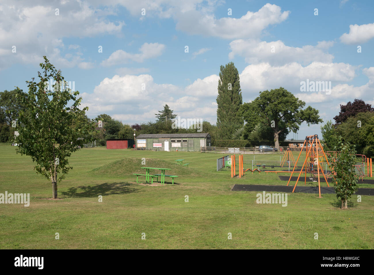 Snitterfield Sports Club and Park, Warwickshire, England, UK - Stock Image