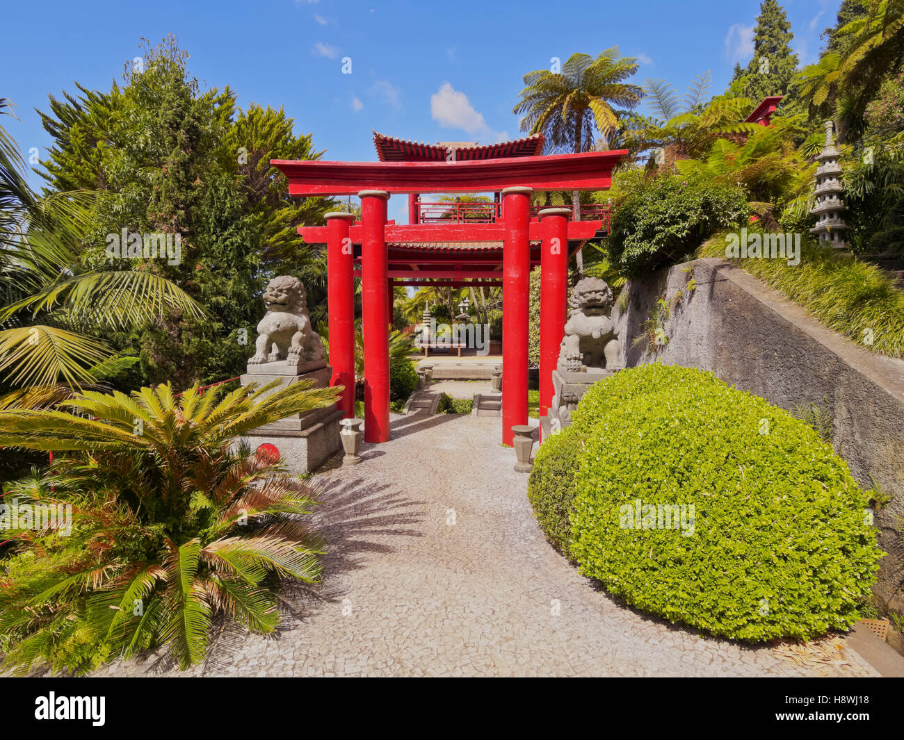 Ordinaire Portugal, Madeira, Funchal, Monte, View Of The Oriental Gardens In The  Monte Palace Tropical Garden.