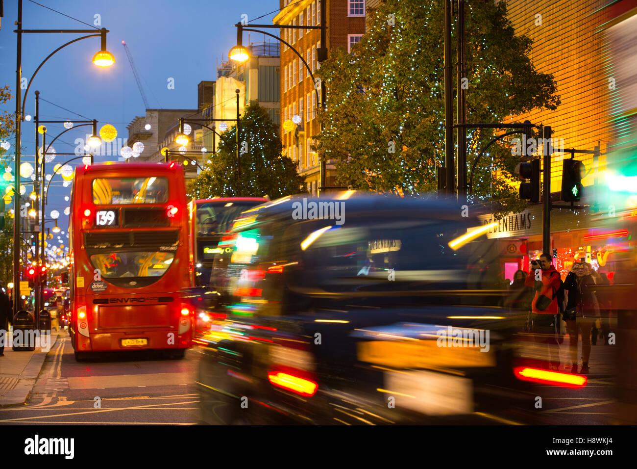 Oxford Street, Central London, England, United Kingdom - Stock Image