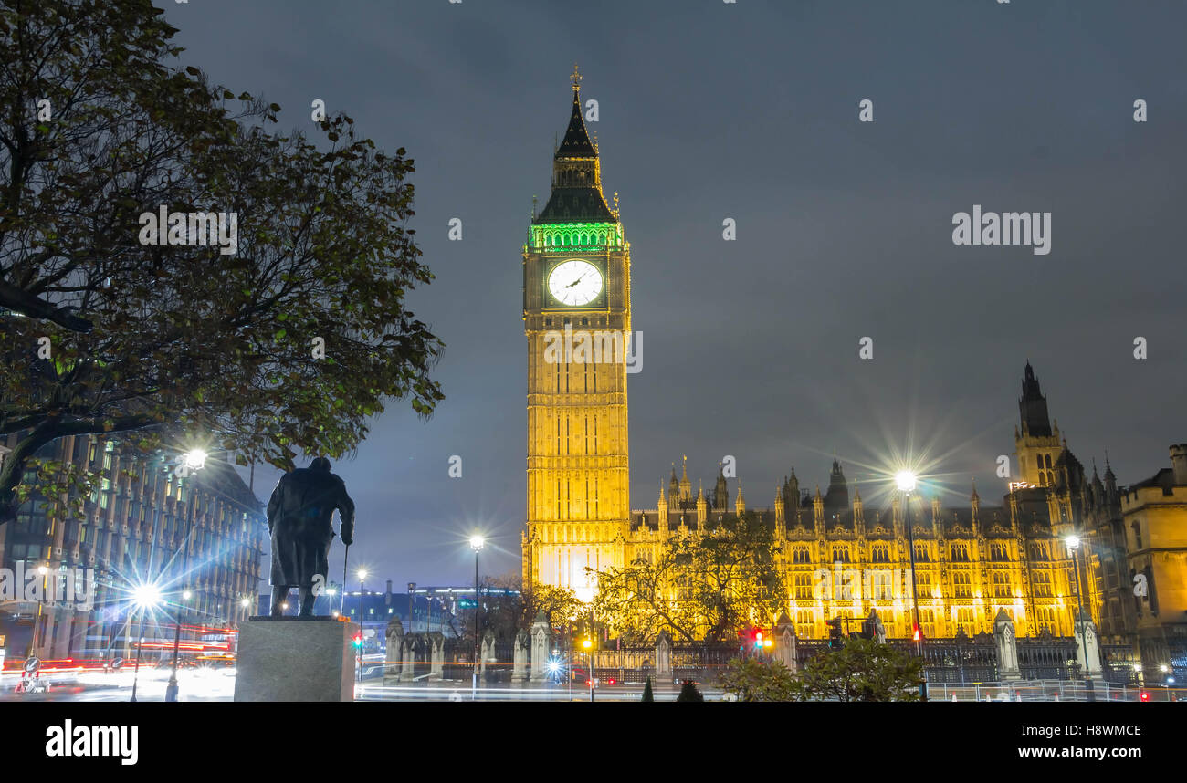 The Big Ben is  British cultural icon ,the tower is one of the most prominent symbols of the United Kingdom. - Stock Image