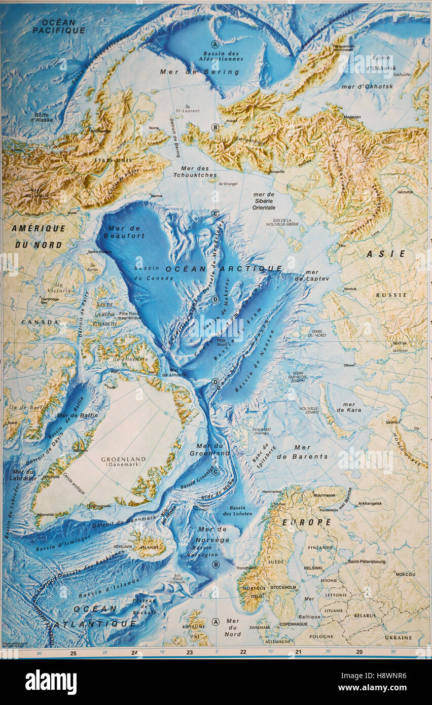 Arctic ocean map with north pole and arctic circle arctic region arctic ocean map with north pole and arctic circle arctic region map with countries national borders rivers and lakes gumiabroncs Image collections