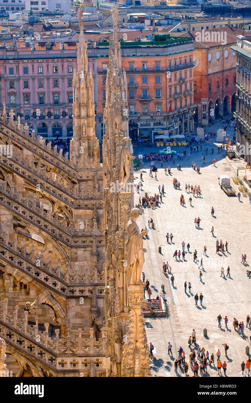 Cathedral of Milan, Italy - Stock Image