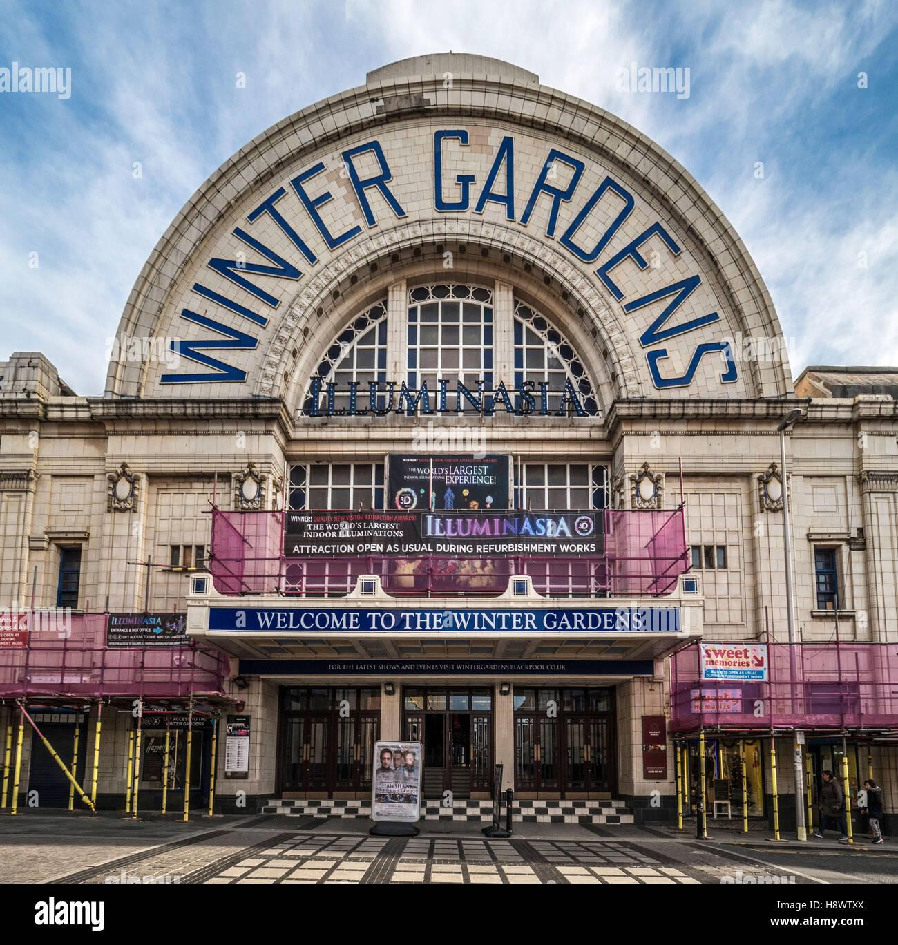 Winter Gardens Entrance, Blackpool, Lancashire, UK Stock