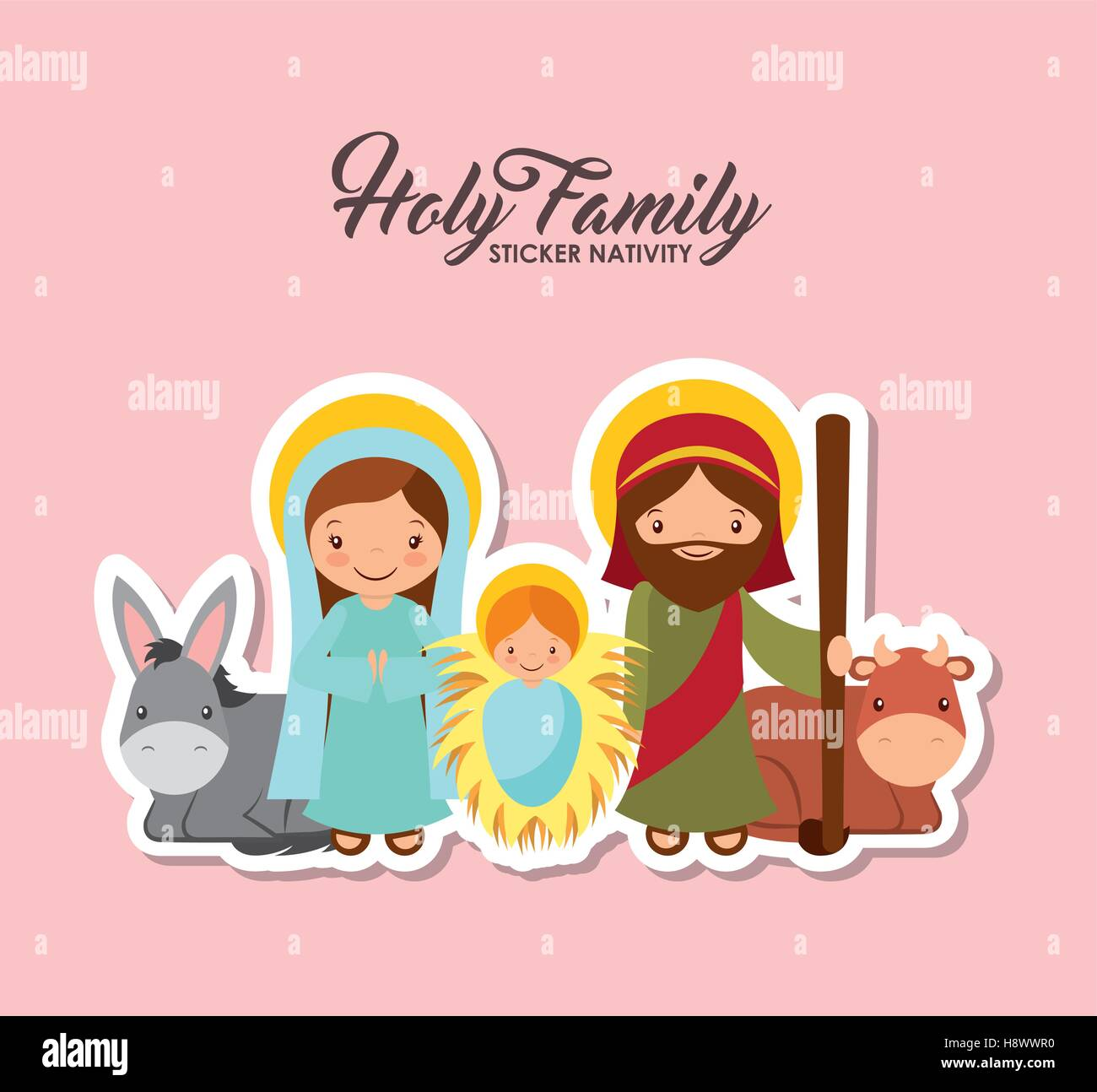Family Prayer Saint Stock Vector Images - Alamy