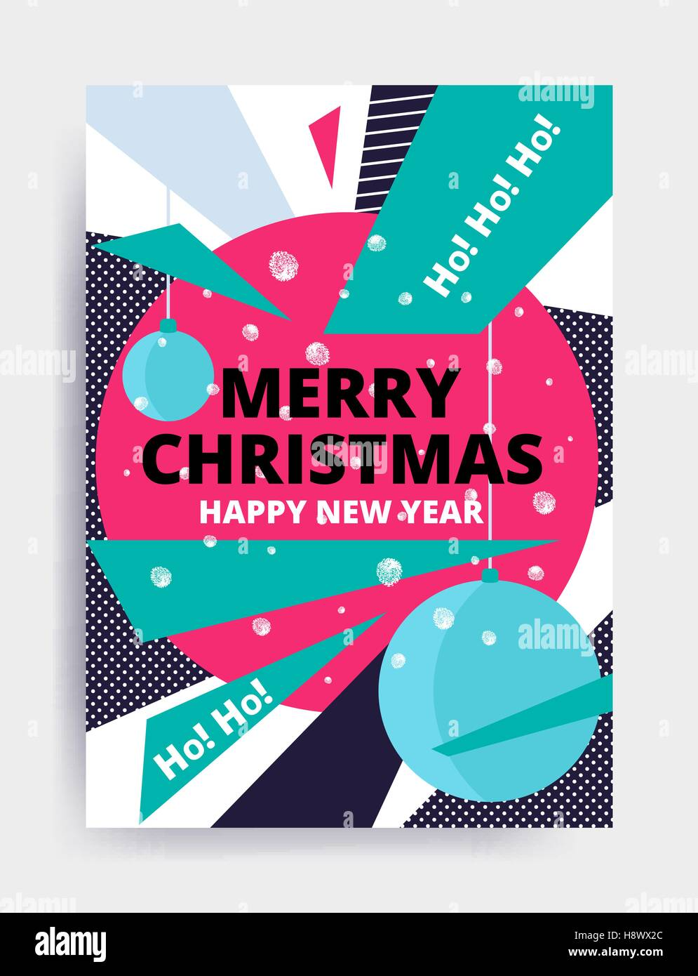 merry christmas new year design eye catching banner template bright colorful vector illustrations for greeting card posters