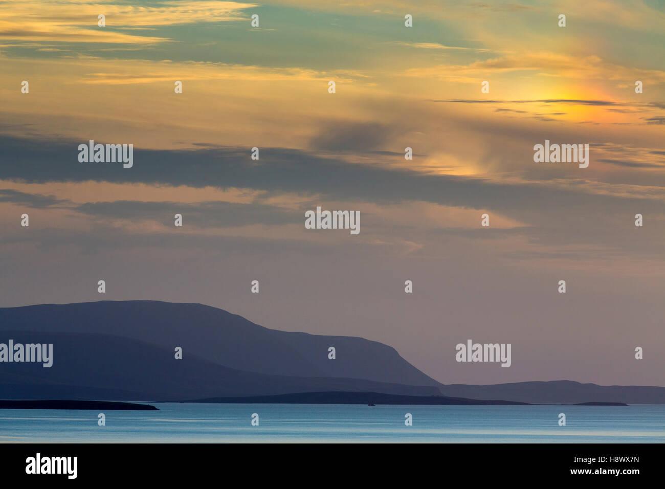 South Ronaldsay; Sunset; Orkney; UK - Stock Image