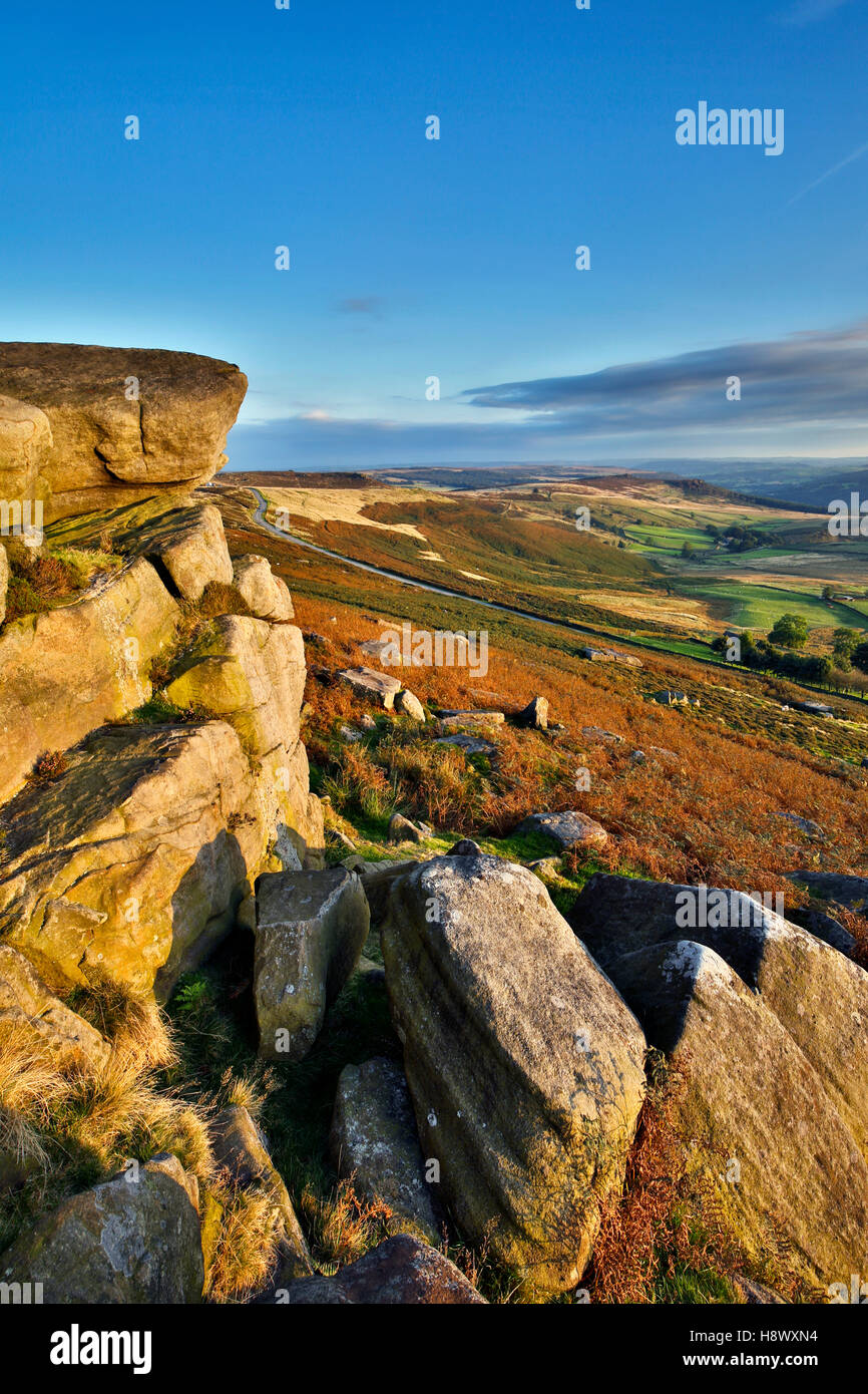 Stanage Edge; Peak District; UK - Stock Image