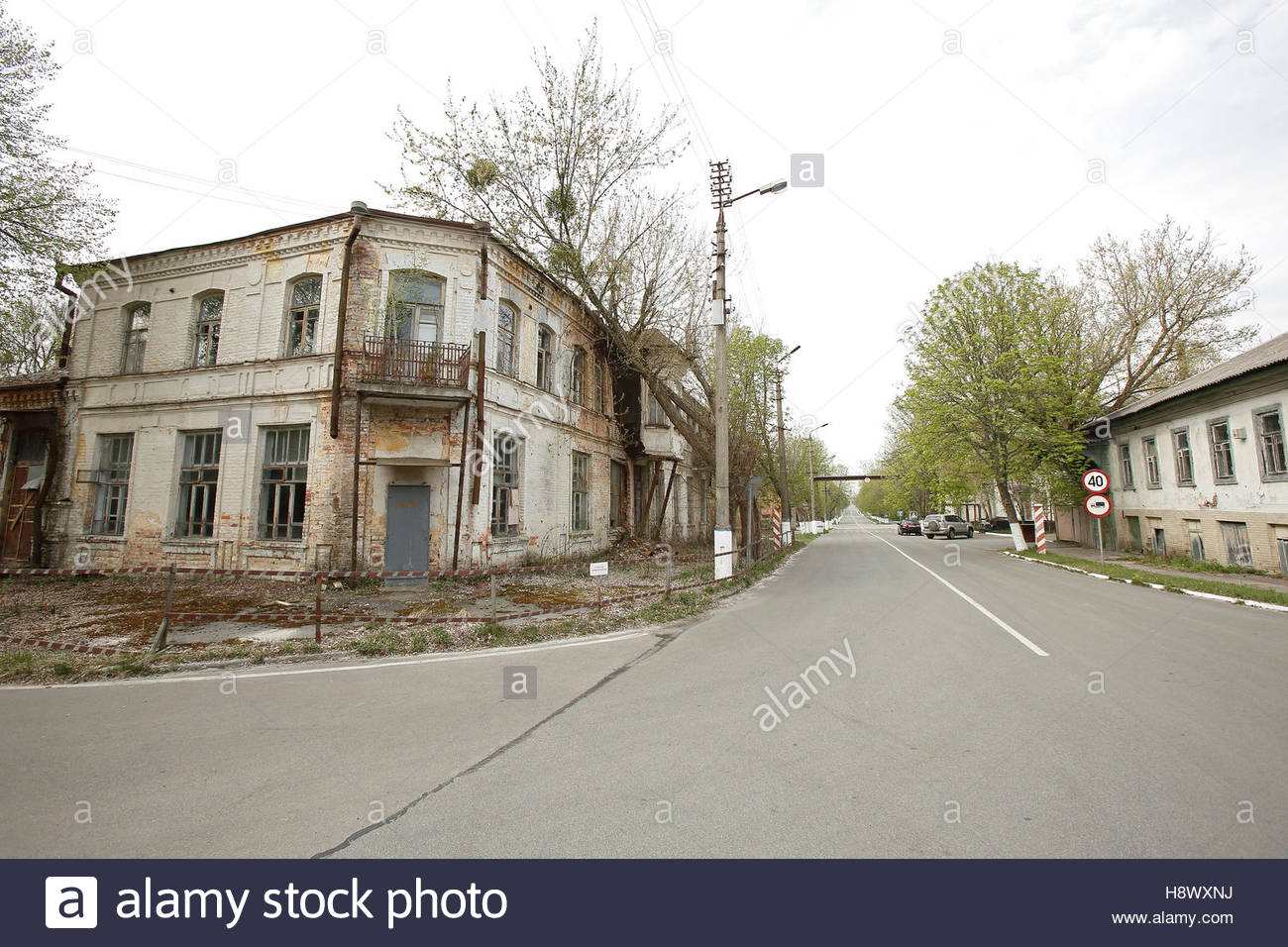 Abandoned city of Chernobyl - Ukraine - Stock Image