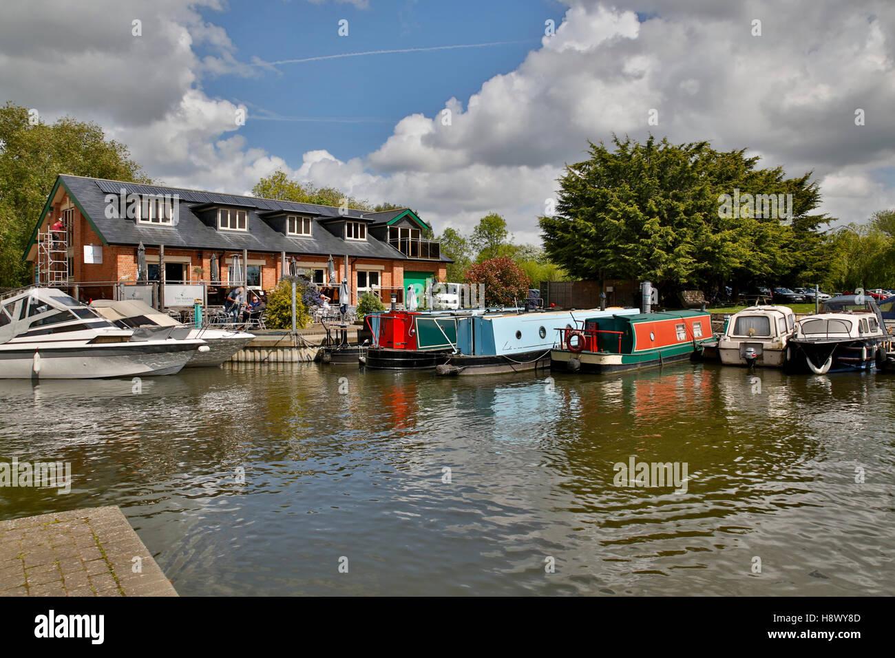 Stratford Upon Avon; Narrow Boats; UK - Stock Image