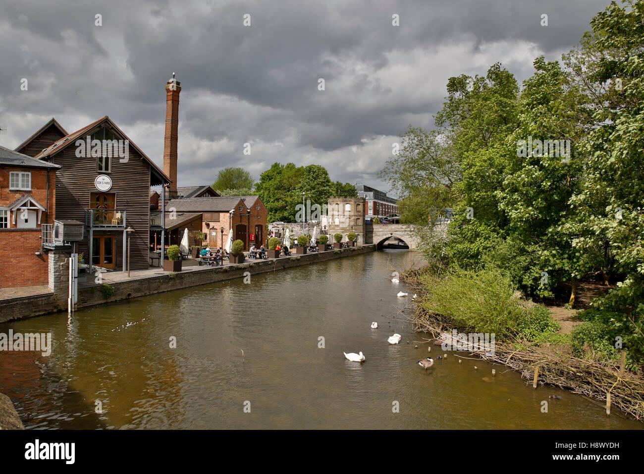 Stratford Upon Avon; River Avon; UK - Stock Image