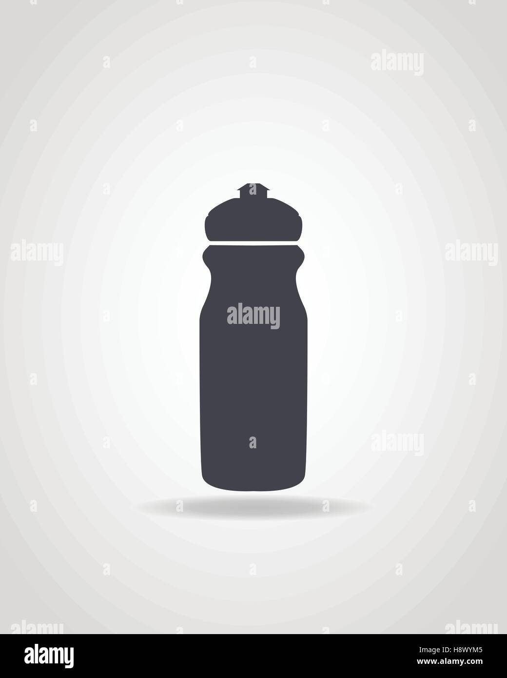 Simple black icon of sport water bottle. - Stock Vector