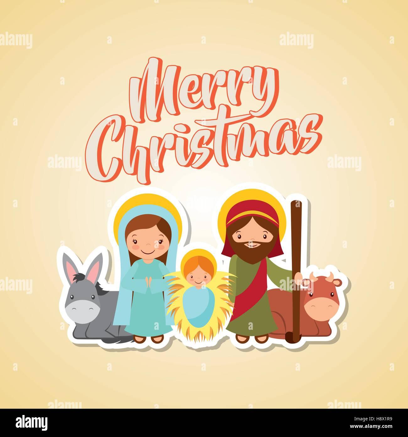 Christian Christmas Nativity Scene Baby Jesus Abstract Card Stock
