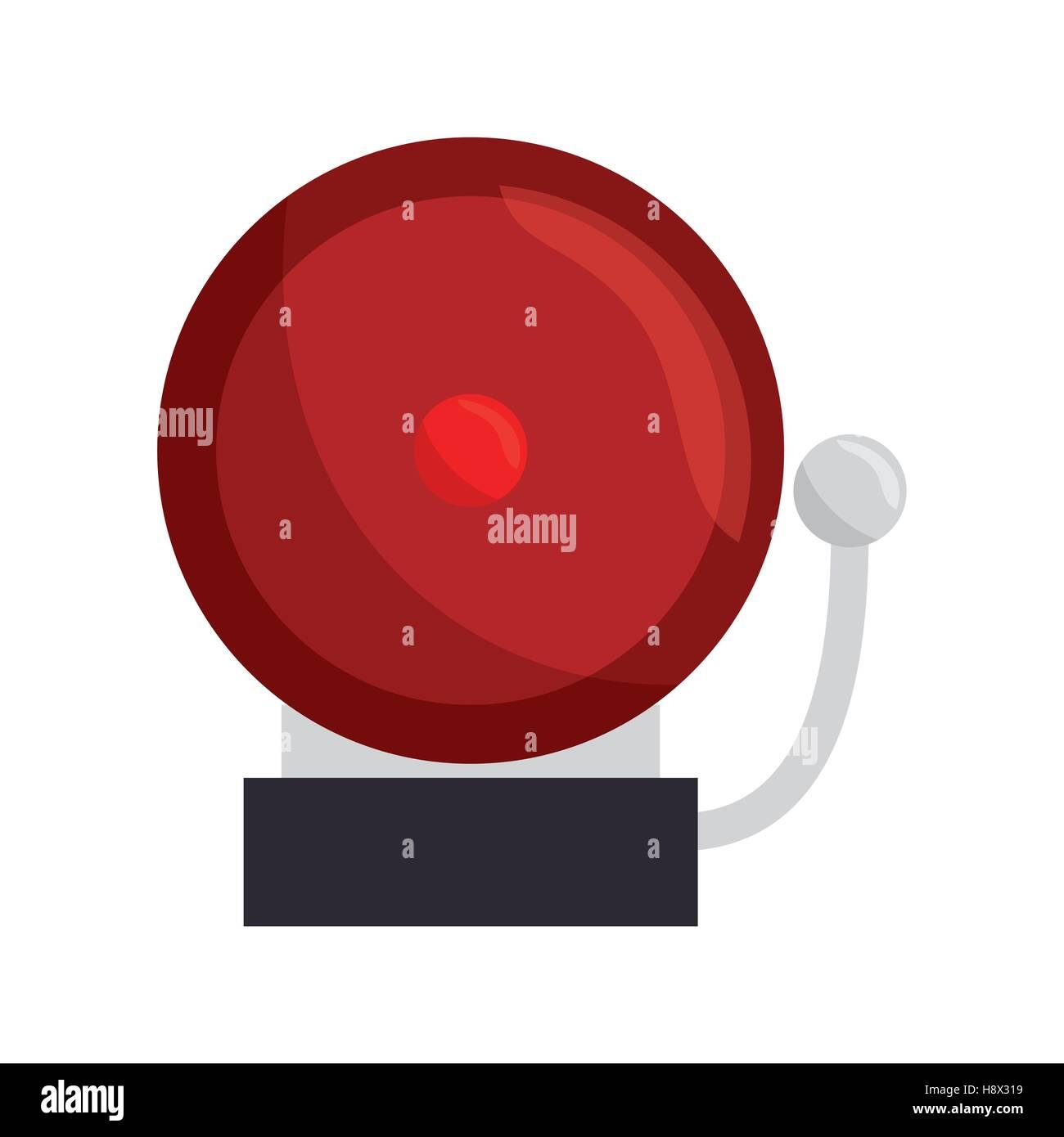 ring school alarm icon vector illustration design - Stock Image