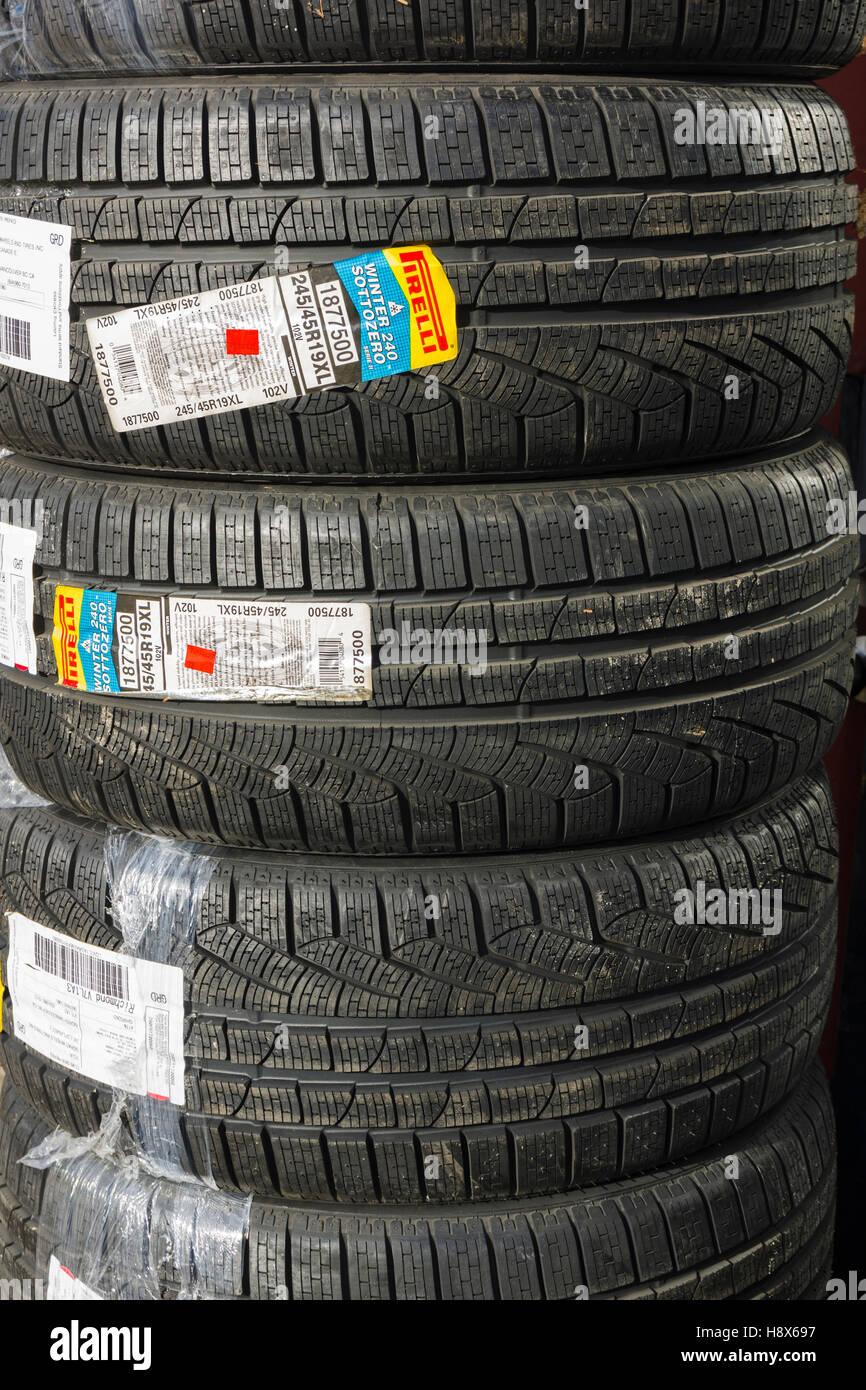 Pirelli Winter 240 Sottozero winter tires for cars - Stock Image