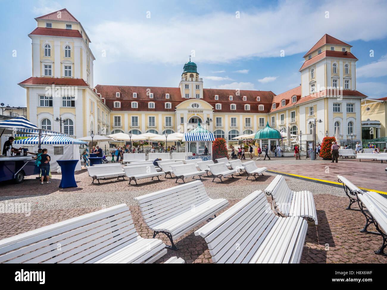 Grand Hotel Kurhaus, Baltic Sea resort Binz on the island of Rügen, Mecklenburg-Vorpommern, Germany - Stock Image