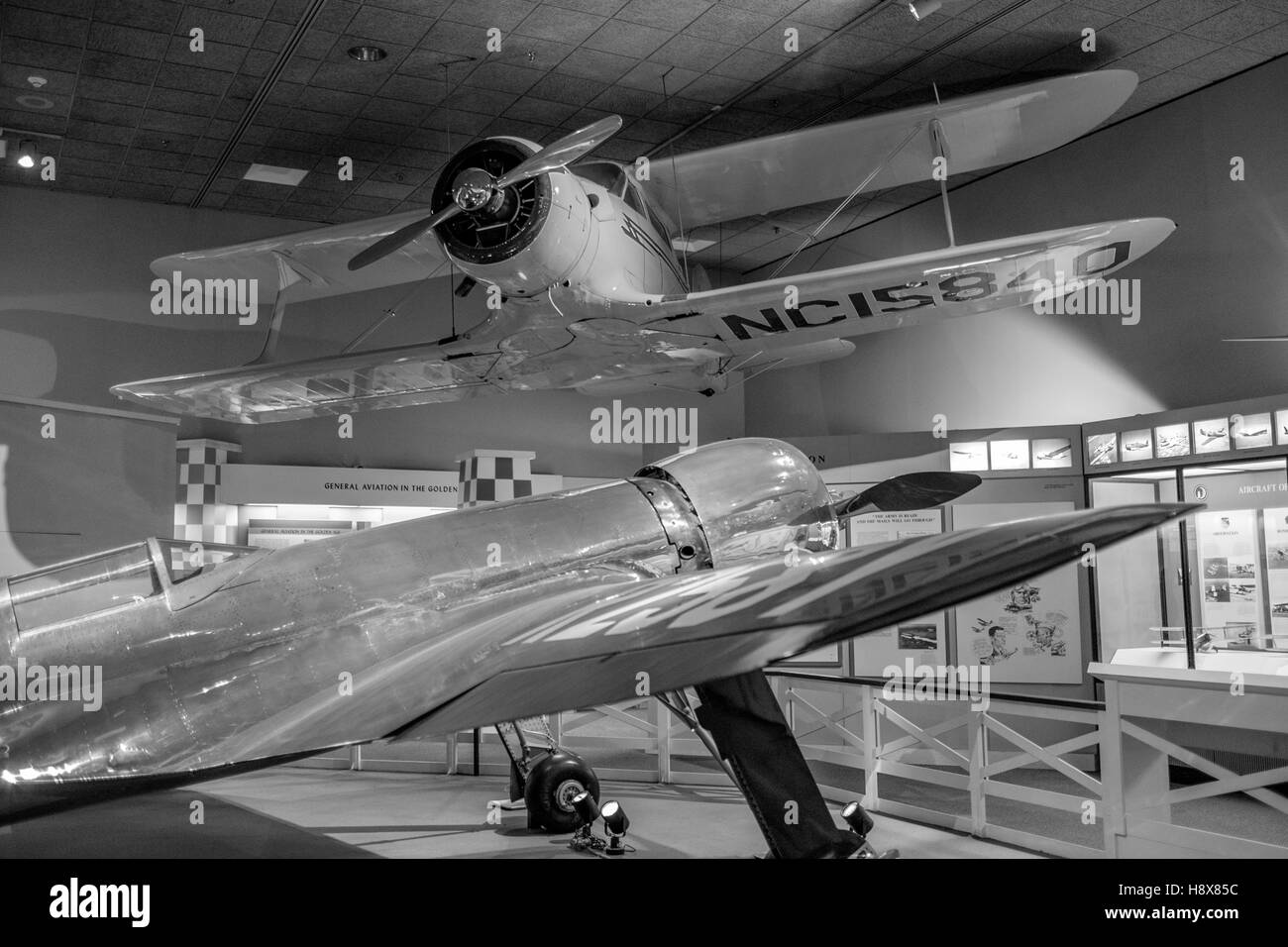 Smithsonian Air and Space Museum Howard Hughes biplane roaring 20's twenties - Stock Image