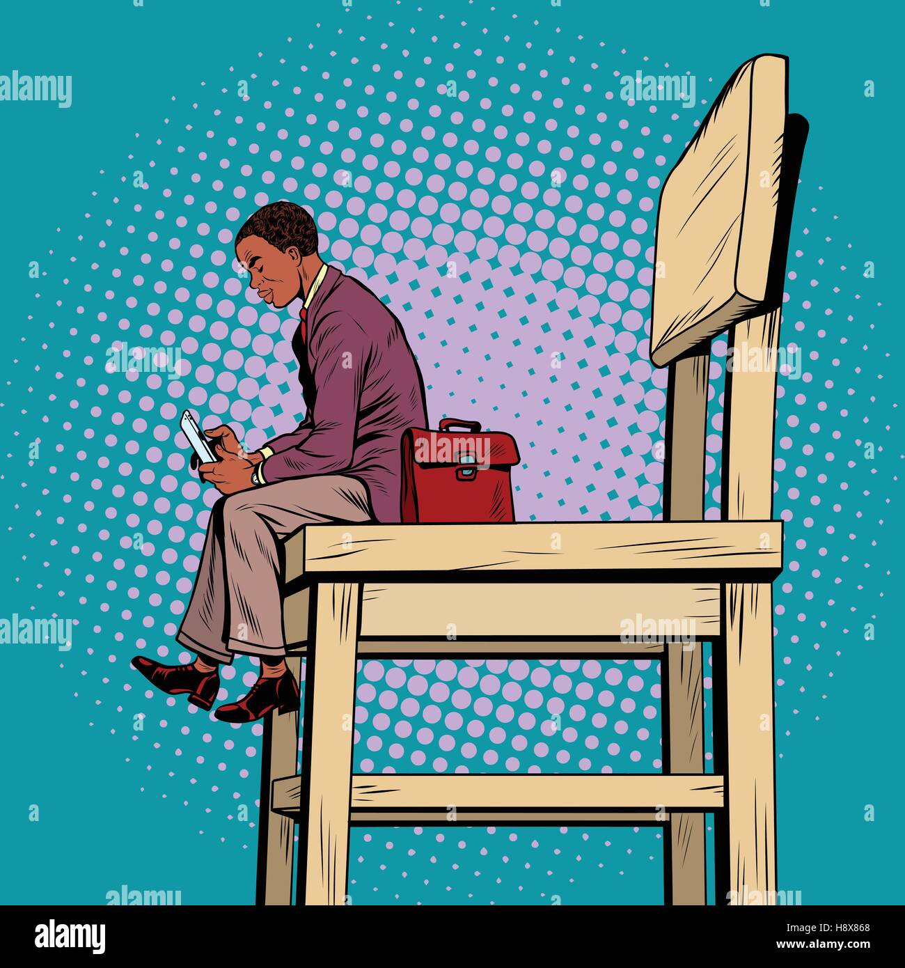 Cool Small Person Large Chair Stock Photos Small Person Large Ibusinesslaw Wood Chair Design Ideas Ibusinesslaworg