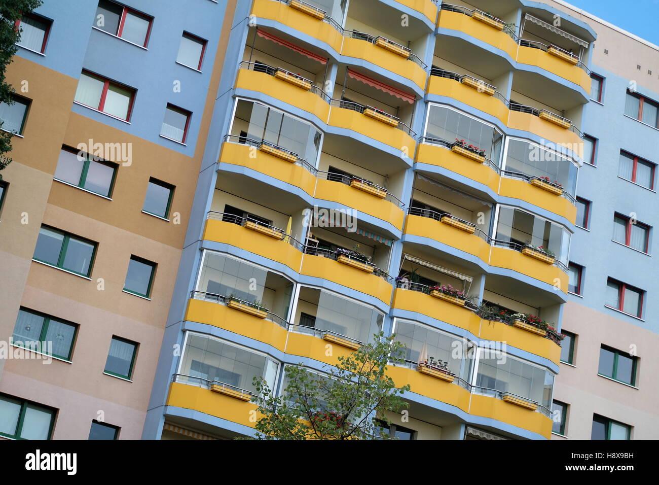Hochhäuser an der Neustädter Havelbucht, Potsdam, Deutschland Stock Photo