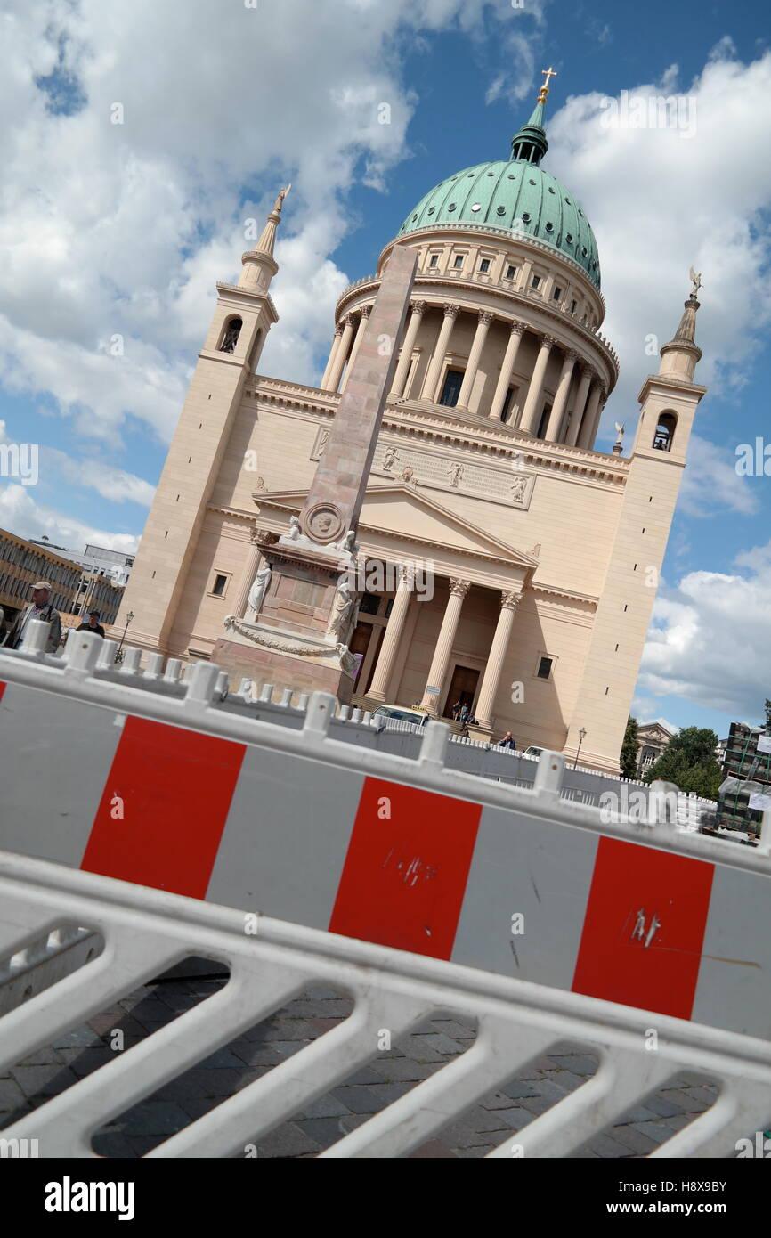 Nikolaikirche in Potsdam, Germany - Stock Image