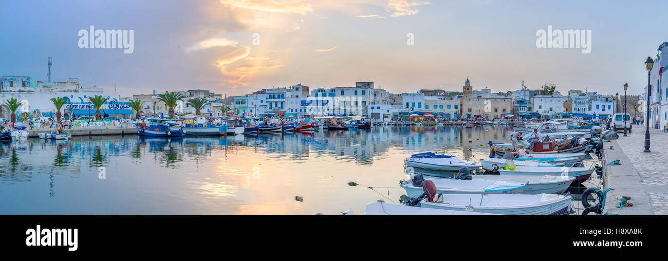 The magic sunset in Bizerte before the thunderstorm - Stock Image