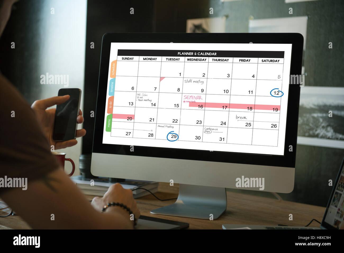 weekly planner schedule memo timeline concept stock photo 125970253