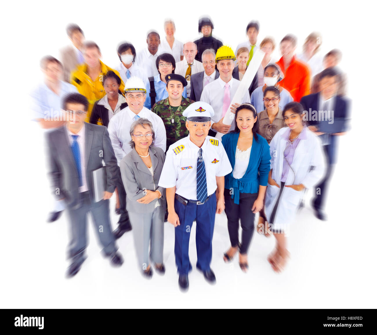 Variation Occupation Job Duty Uniform Concept - Stock Image