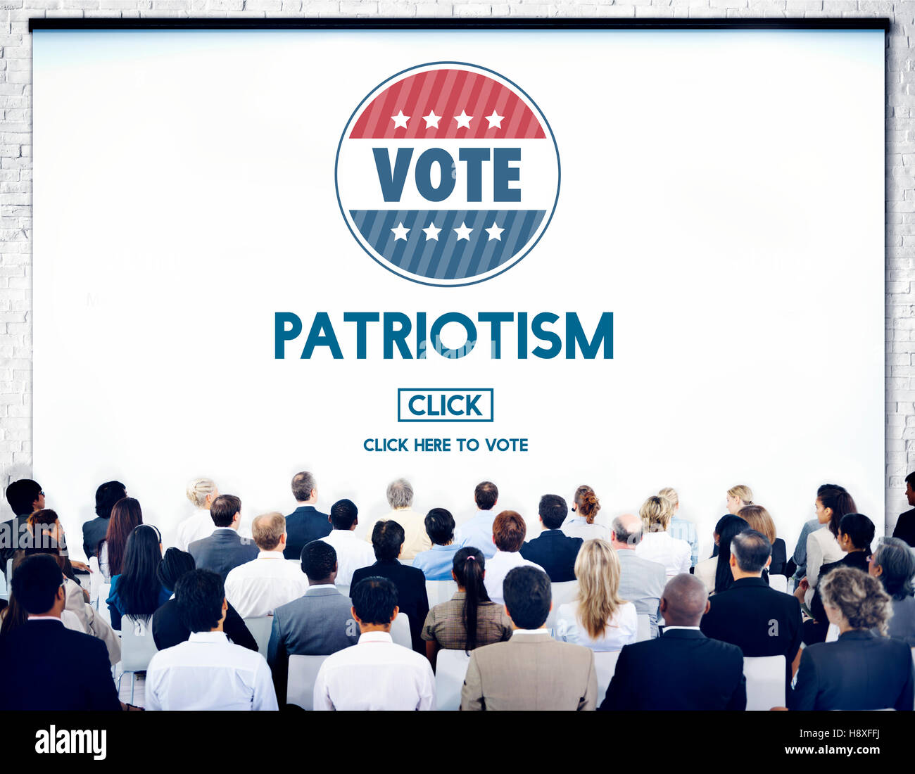 Patriotism Country Election Freedom National Concept - Stock Image