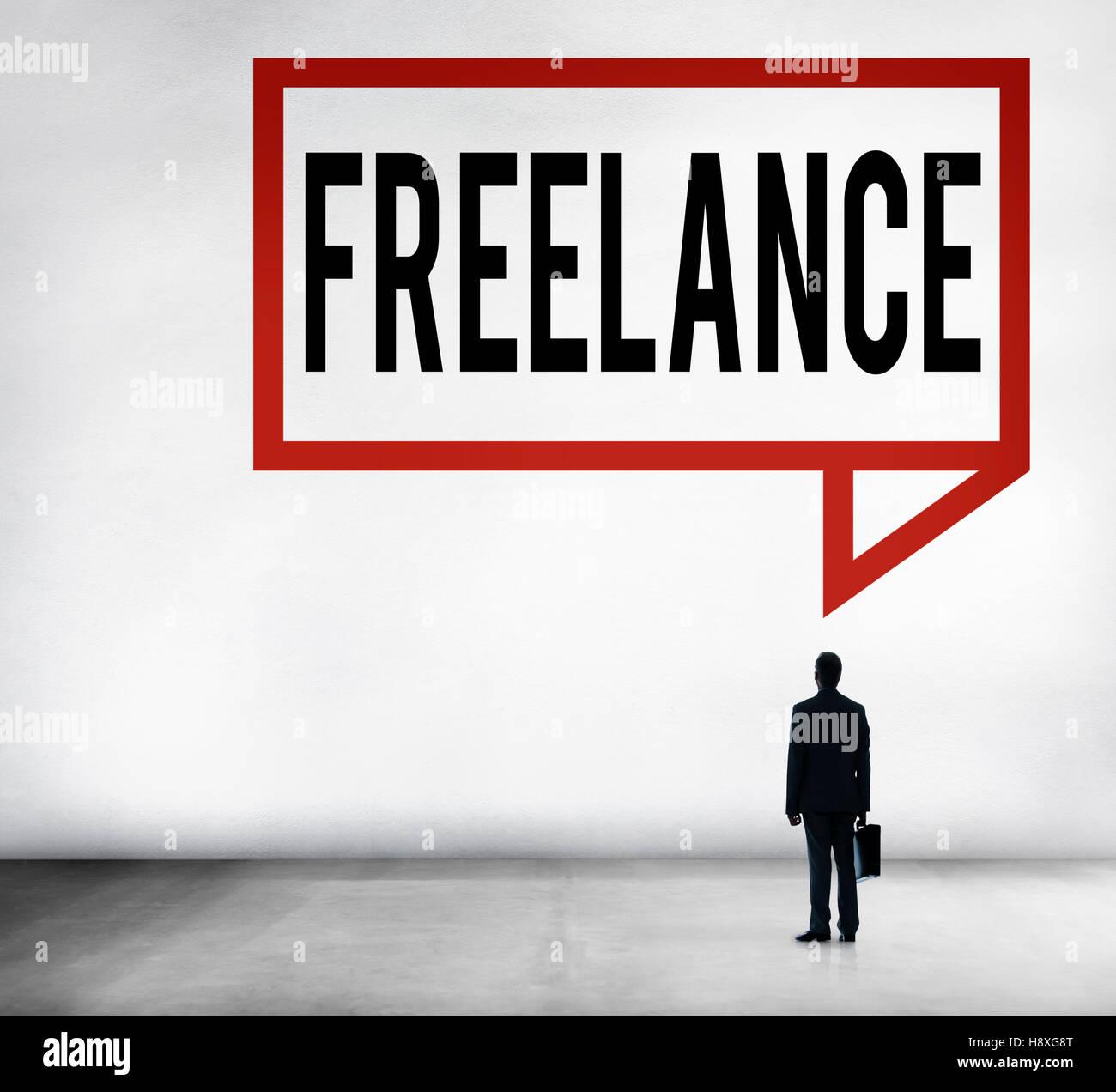 Freelance Part time Outsources Job Employment Concept - Stock Image