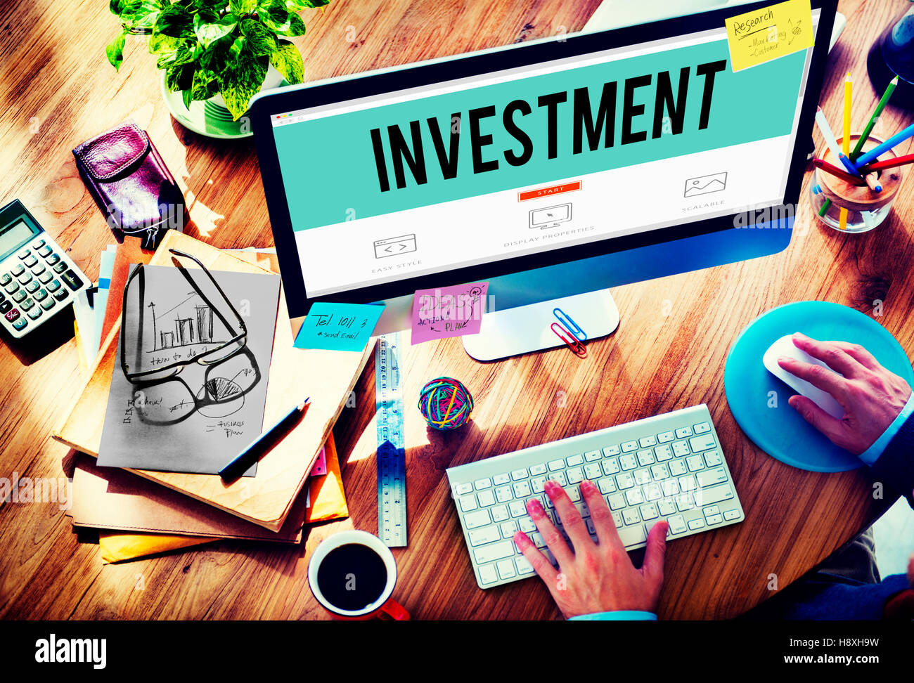 Investment Economy Financial Investing Income Concept - Stock Image