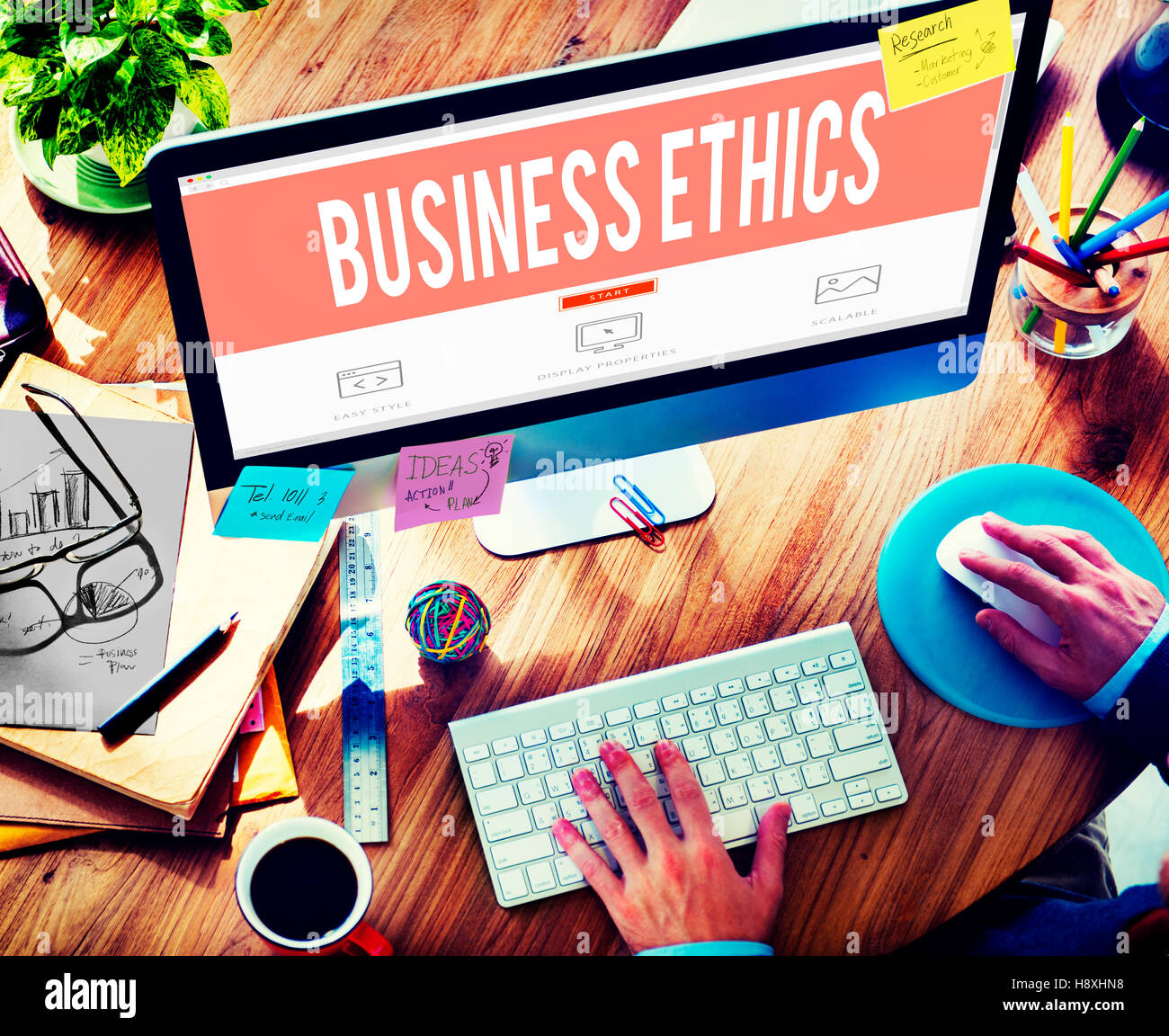 Business Ethics Honesty Ideology Responsibility Strategy Concept - Stock Image