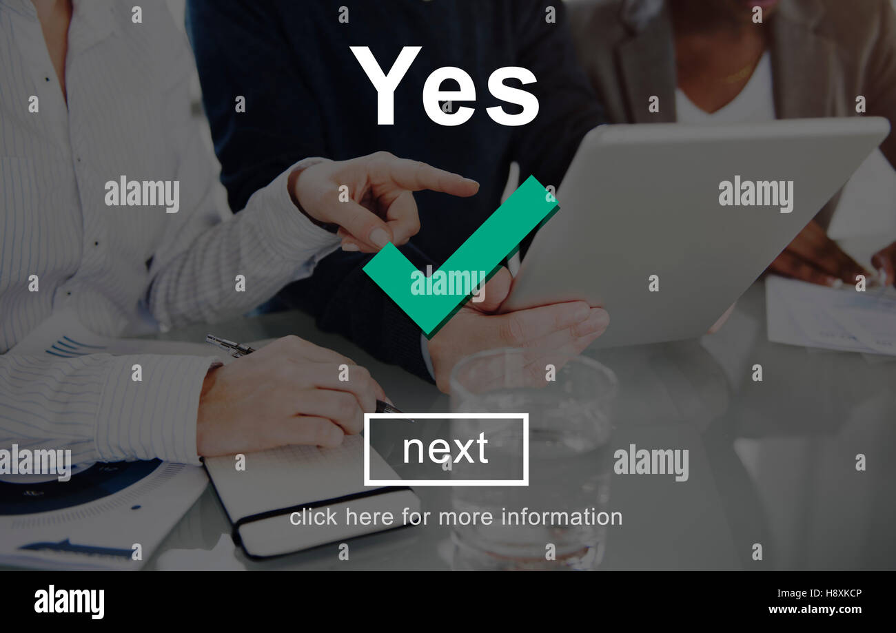 Yes Correct Certainly Positive Right Concept - Stock Image