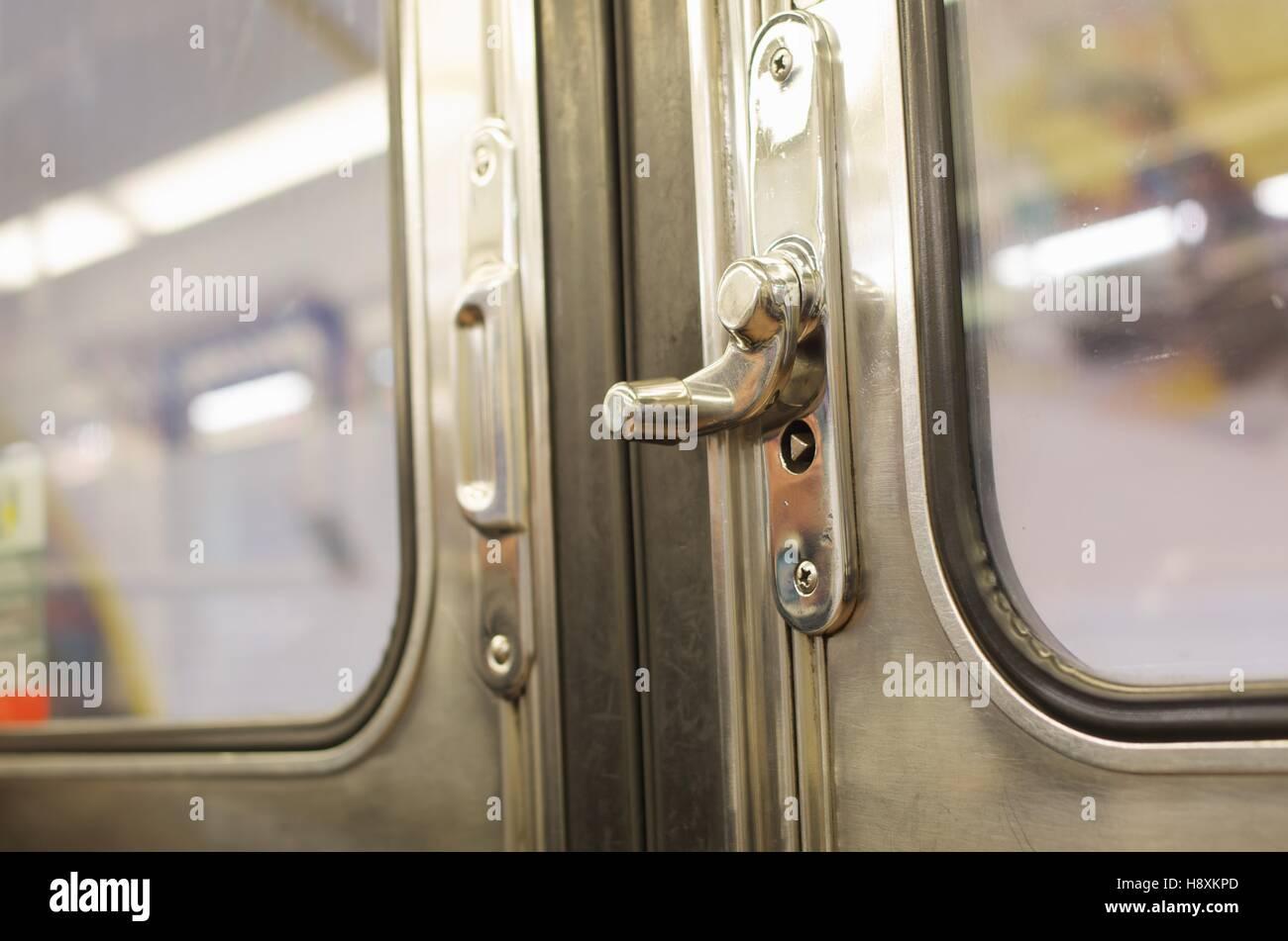 Paris Metro Train Door Handles