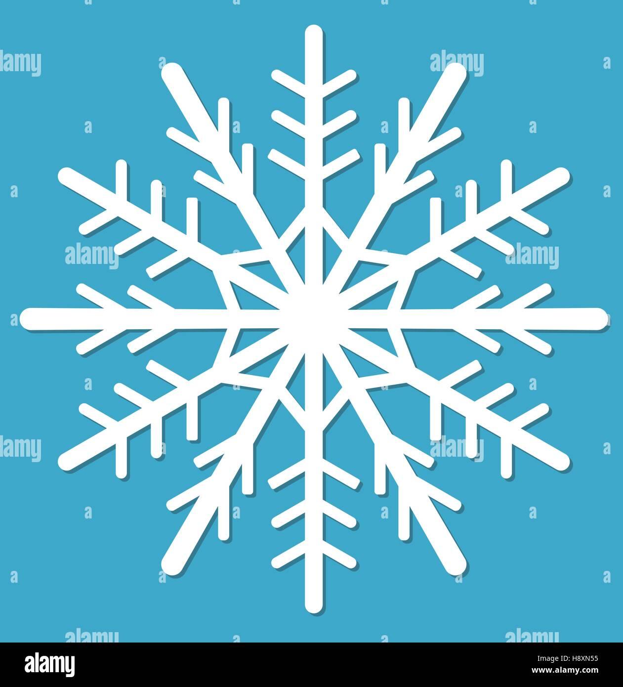 Snowflake.  icon flat style.  design elements. Vector illustration - Stock Image