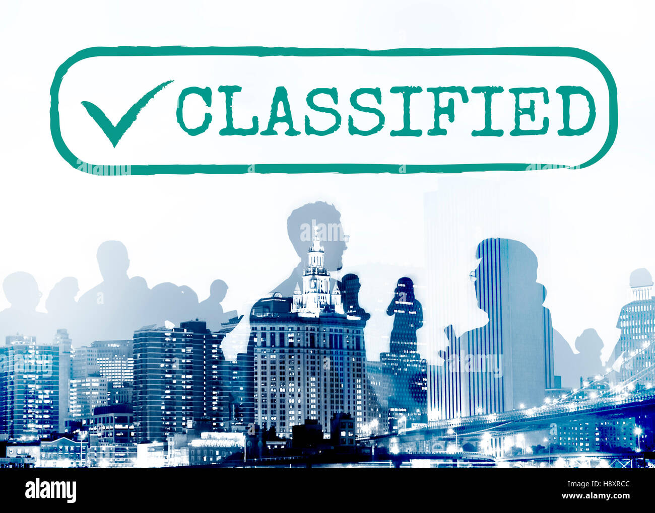 Classified Category Genre Kind Section Graphic Concept - Stock Image