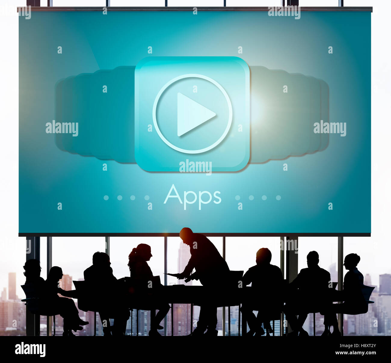 Applications Apps Multimedia Invention Devices Concept Stock Photo