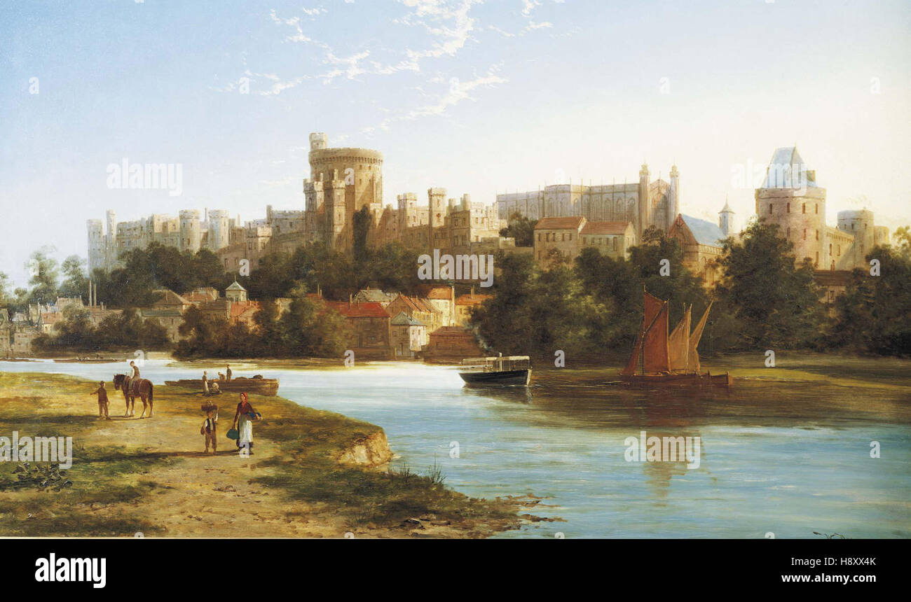 William Raymond Dommerson   View of Windsor From the Thames - Stock Image