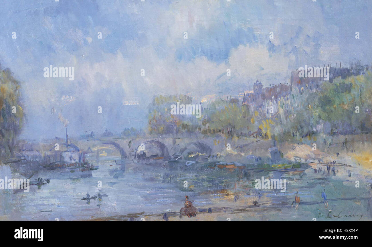 Albert Lebourg   Le Pont Marie in Paris - Stock Image