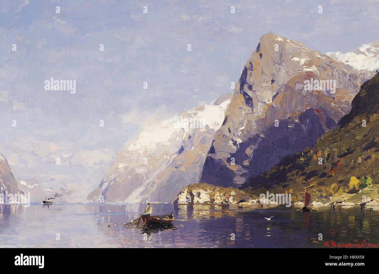 Georg Anton Rassmussen   The Ice-Blue Fjord, Norway - Stock Image