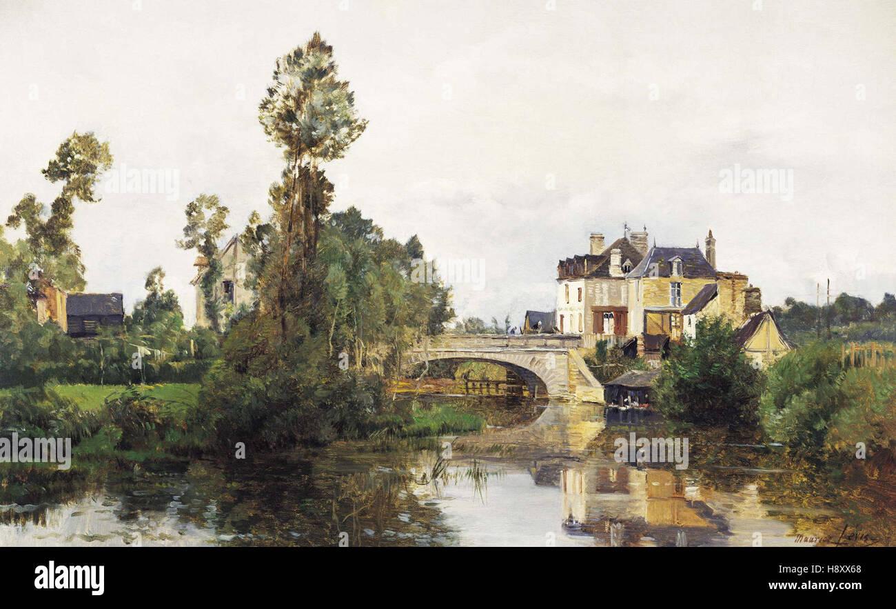 Maurice Levis   The Bridge of Mortain in St Hilaire, France Le Pont de Mortain à St Hilaire - Stock Image