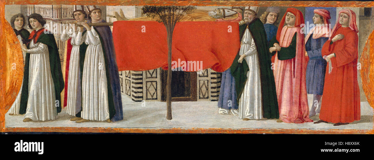 DAVIDE GUIRLANDAIO - The Burial of Saint Zenobius - 1479 - Stock Image