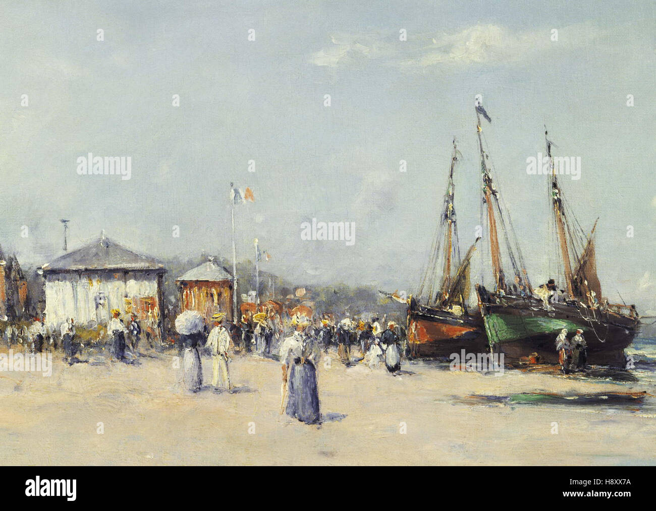Charles Malfroy  The Beach at Deauville - Stock Image