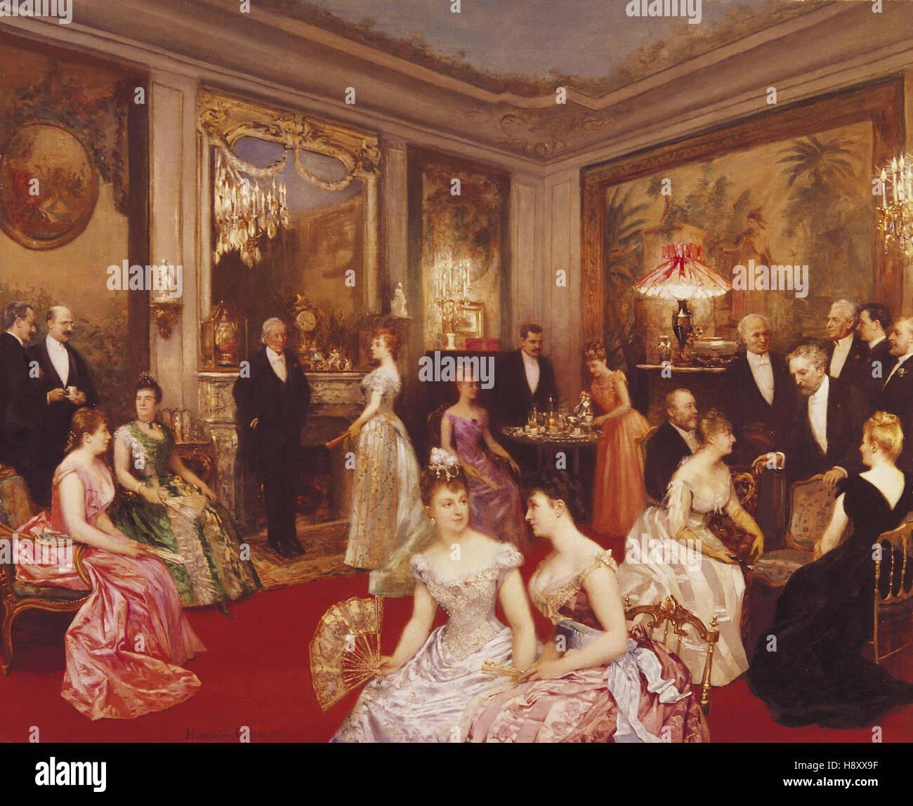 Horace de Callias   An Elegant Soiree - Stock Image