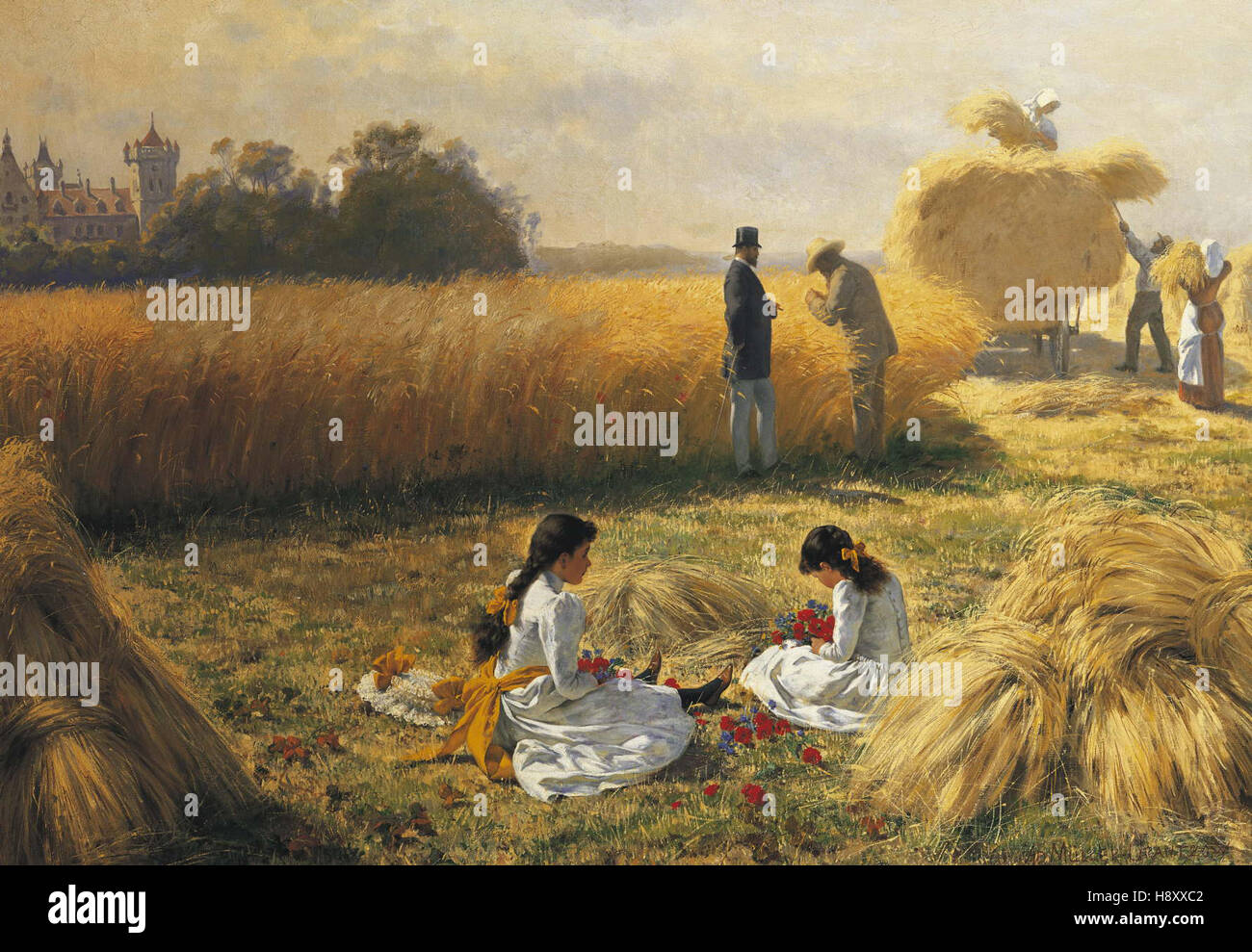Adolf Muller  Harvest Time on the Estate Stock Photo