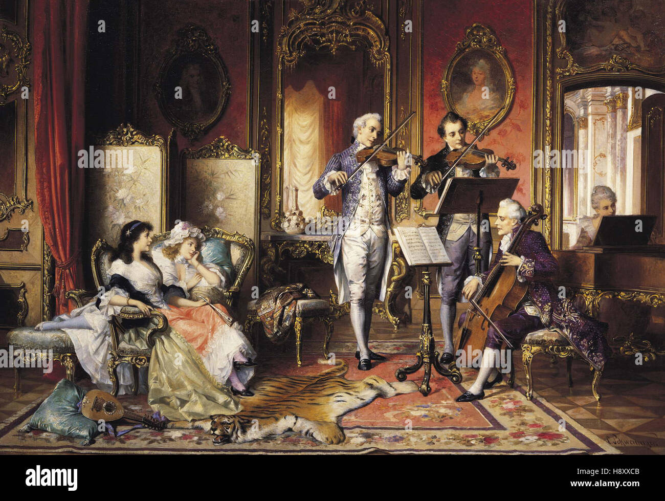 Karl Schweninger   A Musical Interlude - Stock Image