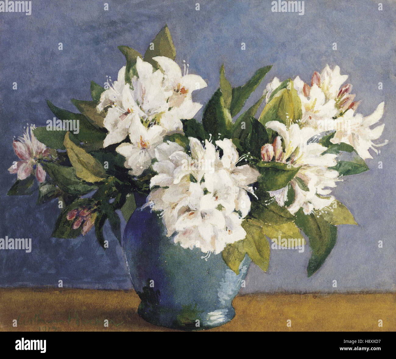 Arthur Hacker   Rhododendrons - Stock Image