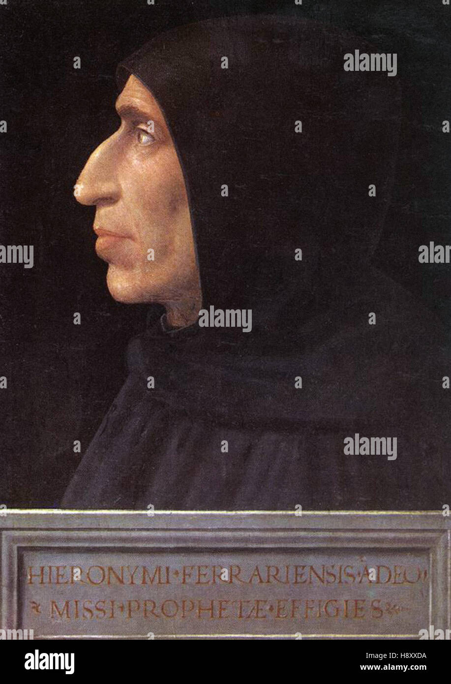 Fra Bartolommeo -  Portrait of Girolamo Savonarola Stock Photo