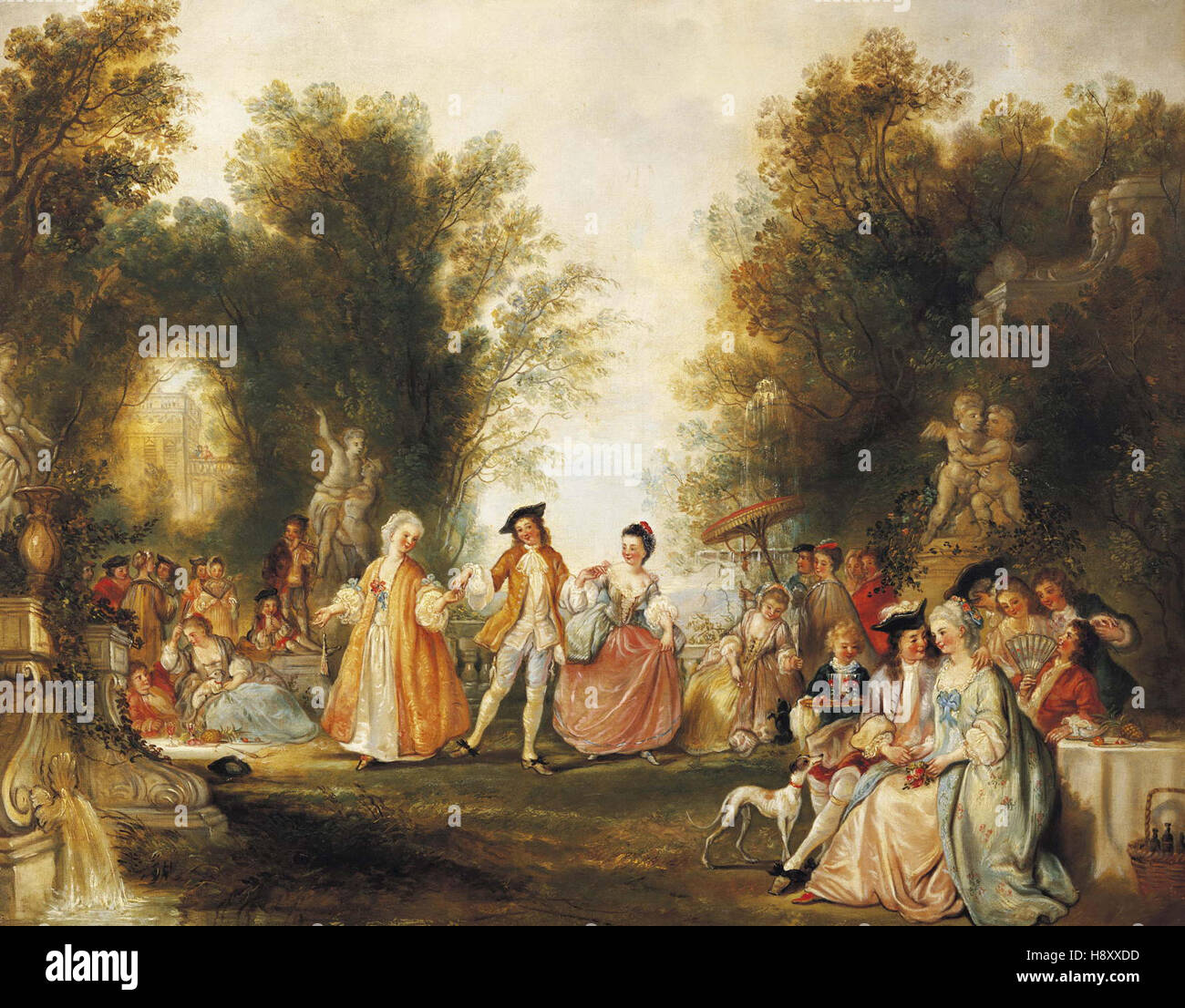 Henry Andrews   Countryside Festivities - Stock Image