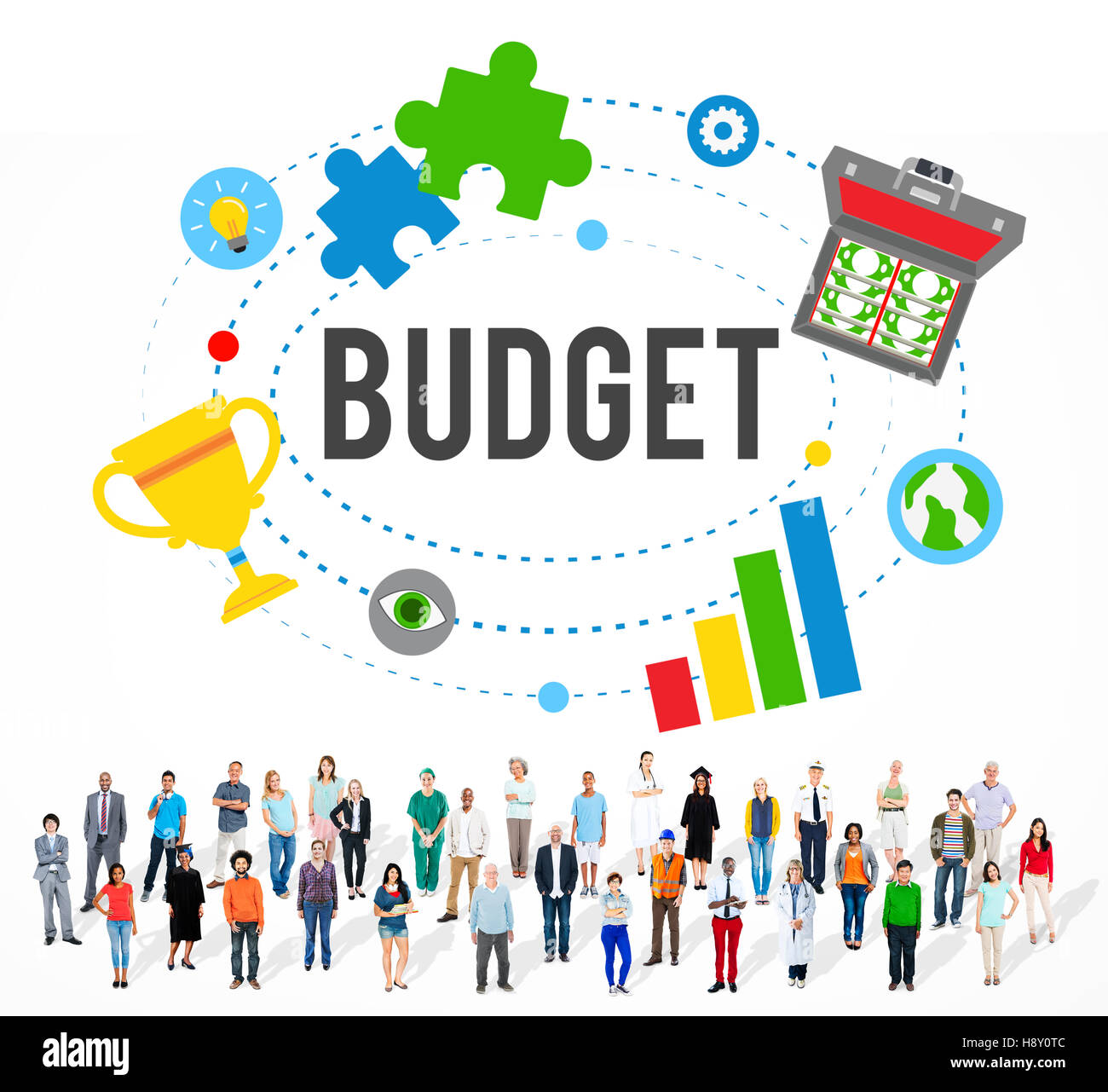Budget Banking Accounting Investment Bookkeeping Concept - Stock Image