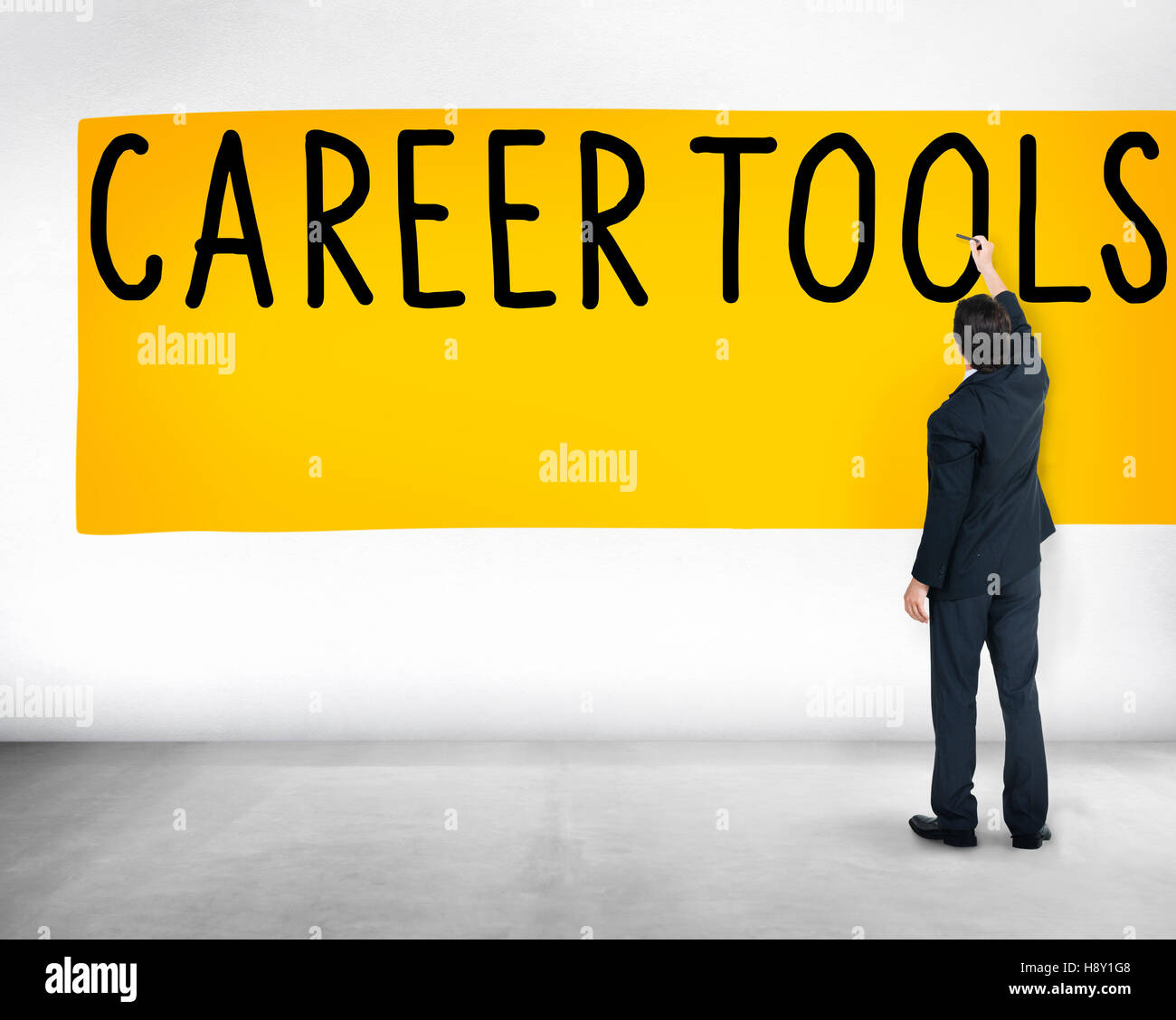 Career Tools Guidance Employment Hiring Concept - Stock Image