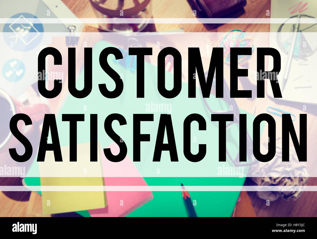 Customer Satisfaction Service Support Assistance Concept - Stock Image